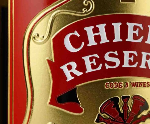 Chief Reserve Bottle Etching